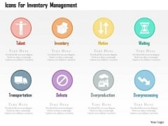 Business Diagram Icons For Inventory Management Presentation Template