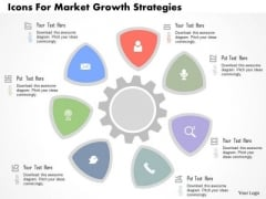 Business Diagram Icons For Market Growth Strategies Presentation Template
