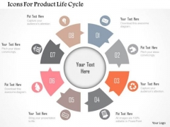 Business Diagram Icons For Product Life Cycle Presentation Template