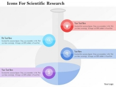 Business Diagram Icons For Scientific Research Presentation Template