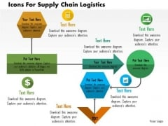 Business Diagram Icons For Supply Chain Logistics Presentation Template