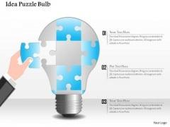 Business Diagram Idea Puzzle Bulb Presentation Template
