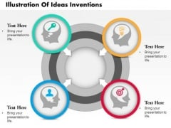 Business Diagram Illustration Of Ideas Inventions Presentation Template