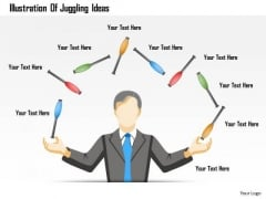 Business Diagram Illustration Of Juggling Ideas Presentation Template