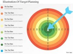 Business Diagram Illustration Of Target Planning Presentation Template