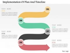 Business Diagram Implementation Of Plan And Timeline Presentation Template