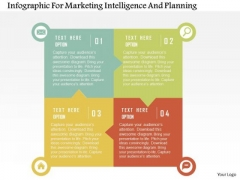 Business Diagram Infographic For Marketing Intelligence And Planning Presentation Template