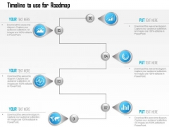 Business Diagram Infographic Template Showing Timeline To Use For Roadmap Ppt Slide