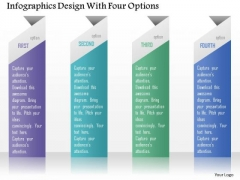 Business Diagram Infographics Design With Four Options Presentation Template