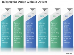 Business Diagram Infographics Design With Six Options Presentation Template