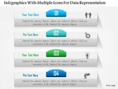 Business Diagram Infographics With Multiple Icons For Data Representation Presentation Template