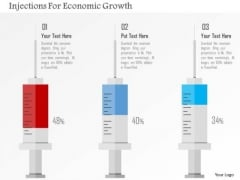 Business Diagram Injections For Economic Growth Presentation Template