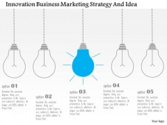 Business Diagram Innovation Business Marketing Strategy And Idea Presentation Template