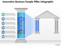 Business Diagram Innovative Business Temple Pillar Infographic Presentation Template