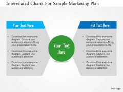 Business Diagram Interrelated Charts For Sample Marketing Plan Presentation Template