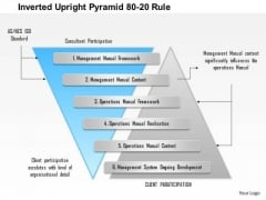 Business Diagram Inverted Upright Pyramid 80 20 Rule Presentation Template