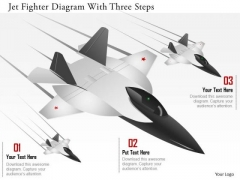 Business Diagram Jet Fighter Diagram With Three Steps Presentation Template