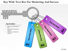 Business Diagram Key With Text Box For Marketing And Success Presentation Template