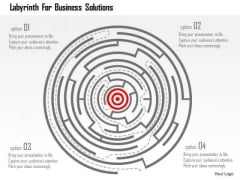 Business Diagram Labyrinth For Business Solutions Presentation Template