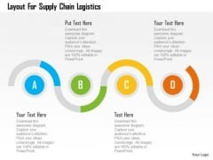 Business Diagram Layout For Supply Chain Logistics Presentation Template