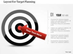 Business Diagram Layout For Target Planning Presentation Template