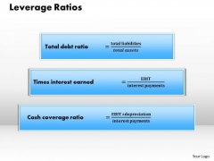 Business Diagram Leverage Ratios PowerPoint Ppt Presentation