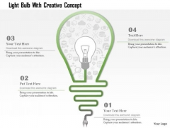 Business Diagram Light Bulb With Creative Concept Presentation Template