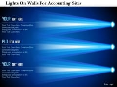 Business Diagram Lights On Walls For Accounting Sites Presentation Template