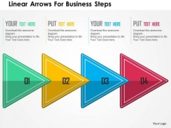 Business Diagram Linear Arrows For Business Steps Presentation Template