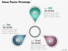Business Diagram Linear Process Percentage Presentation Template