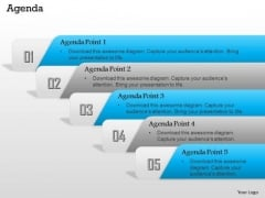 Business Diagram Linear Sequential Diagram With Five Stages To Show Points Of Agenda Ppt Template