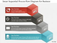 Business Diagram Linear Sequential Process Flow Diagram For Business Presentation Template