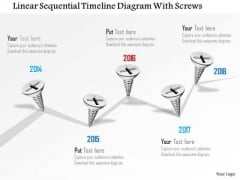 Business Diagram Linear Sequential Timeline Diagram With Screws PowerPoint Template