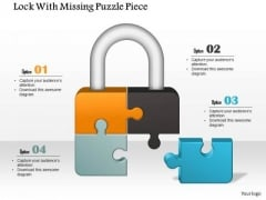 Business Diagram Lock With Missing Puzzle Piece Presentation Template