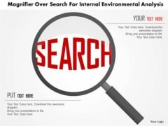 Business Diagram Magnifier Over Search For Internal Environmental Analysis Presentation Template