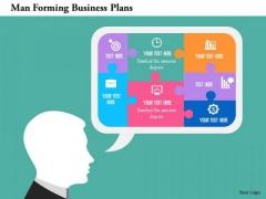 Business Diagram Man Forming Business Plans Presentation Template