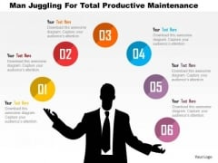 Business Diagram Man Juggling For Total Productive Maintenance Presentation Template