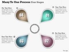 Business Diagram Many To One Process Four Stages Presentation Template
