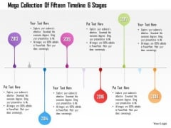 Business Diagram Mega Collection Of Fifteen Timeline 6 Stages Presentation Template