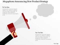 Business Diagram Megaphone Announcing New Product Strategy Presentation Template