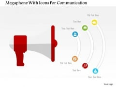 Business Diagram Megaphone With Icons For Communication Presentation Template