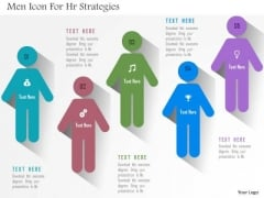 Business Diagram Men Icon For Hr Strategies Presentation Template