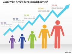 Business Diagram Men With Arrow For Financial Review Presentation Template