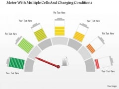 Business Diagram Meter With Multiple Cells And Charging Conditions Presentation Template