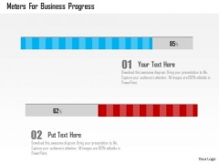 Business Diagram Meters For Business Progress Presentation Template