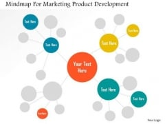 Business Diagram Mindmap For Marketing Product Development Presentation Template