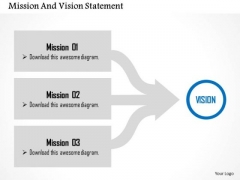 Business Diagram Mission And Vision Statement Presentation Template