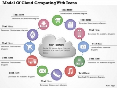 Business Diagram Model Of Cloud Computing With Icons Presentation Template