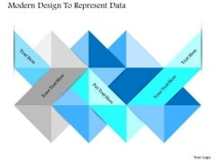 Business Diagram Modern Design To Represent Data Presentation Template