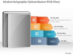Business Diagram Modern Infographic Options Banner With Diary PowerPoint Template